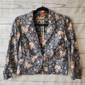 Anthropologie Vintage Crop Jacket - 6